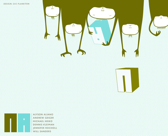 DasPlankton Berlin branding illustration character design Negative Artists