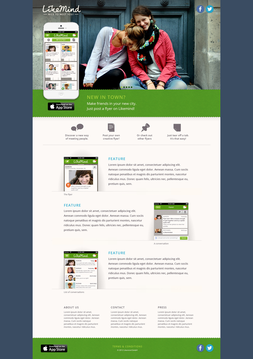 DasPlankton UI Design Likemind Website
